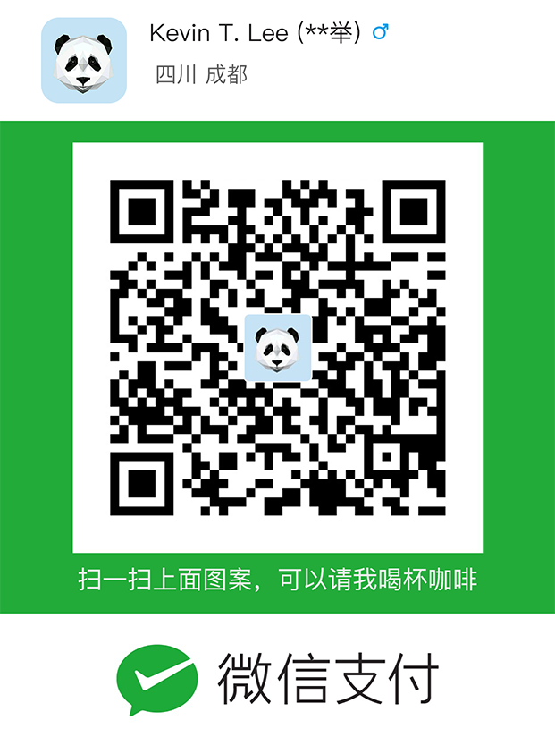 Kevin T. Lee WeChat Pay